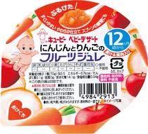 QP キユーピー 離乳食 にんじんとりんごのフルーツジュレ 70g 24個 (6個×4箱) ZHT