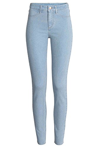 Ex Zara Dames Dames Dames Slim Fit Jeggings Jeans Stretch Denim UK Maat 8-18