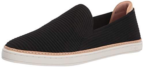 UGG Australia Damen Sammy Sneaker, Schwarzer Rippstrick, 39 EU