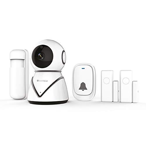 Silvergear Smart Home Beveiliging WiFi Starterkit - IP Camera, Deurbel, Bewegingssensor en Deursensor