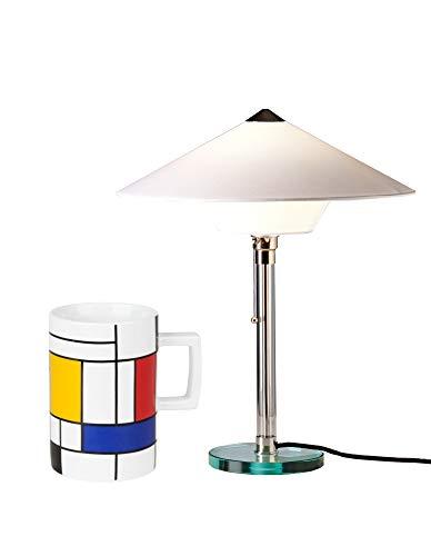 Tecnolumen Wagenfeld Bauhaus Lampe Tischleuchte Leuchte WG 28 | Tischleuchte + gratis Bauhaus Becher