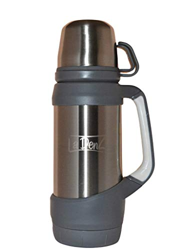 LaDenz Double Walled Vacuum Cup Flask - 1l Thermo Stainless Steel Flask for...