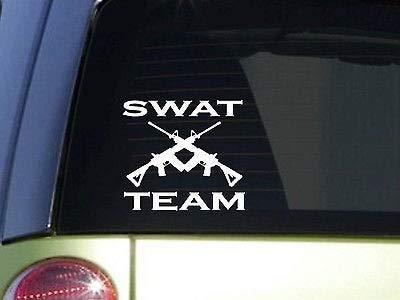 Swat Cars Vinyl Decal Sticker, Police Miltary Team Cruiser Bulletproof Vest Squad Auto Decals, Decal Sticker for Trucks, Vans, Motorcycle, Window, Laptop, Computer, Cup, Mug, Bottle, Bumper.