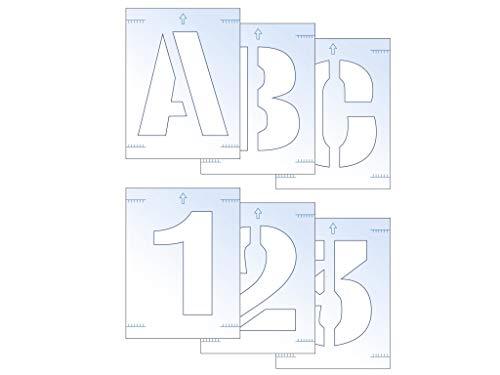 Scan Buchstaben- und Zahlenschablonen-Set, 50 mm