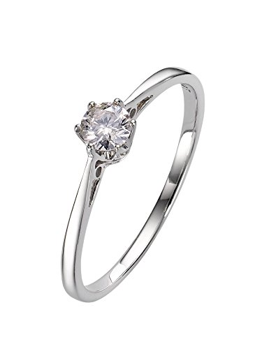 Platin Diamant Engagement Solitär Ring 6 Klaue brillant Cut 1/5 Karat