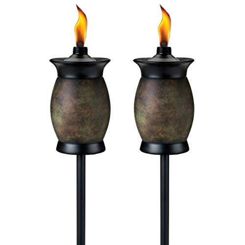 TIKI Brand 63-inch Resin Jar TIKI Torch 4-in-1 Stone Color