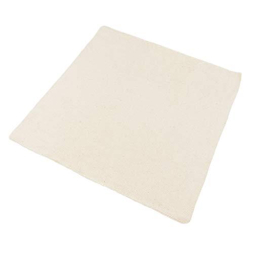 Baumwolle Stoff Beige Handarbeit Kreuzstich Tuch Stoff Sticken Zählstoff zum Sticken/Teppich/Stanznadeln - 33x33cm