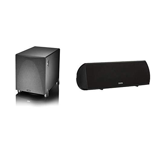Definitive Technology ProSub 800 - Subwoofer (Single, Black) & Technology Procenter 1000 Compact Center Speaker (Single, Black)