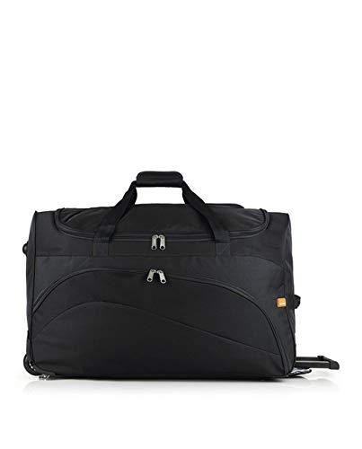 Gabol - Week | Bolso con Ruedas de Viaje Grande de Tela de 66 x 40 x 33 cm con Capacidad para 87 L de Color Negro