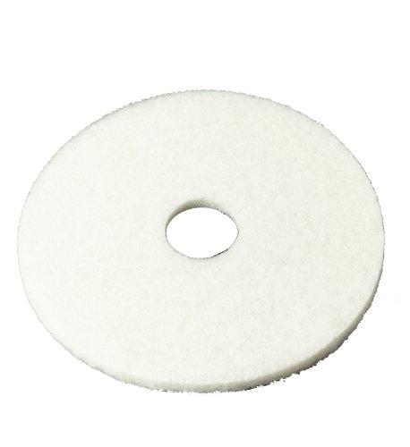 3M Bodenpolierpad, 4100, für Poliermaschinen, weiß, Box mit 5 Stück, 11 Inches, weiß, 5