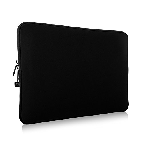 V7 CSE12-BLK-3E 12' Neoprene Water-Resistant Laptop Sleeve Case in Black