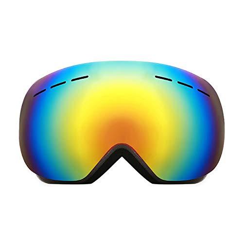 Vicloon Skibrille Erwachsene, Sphärische Rahmenlose Snowboardbrille mit Brillenetui, OTG/UV400 Schutz, Helmkompatible Schneebrille, Anti-Beschlag, Wechselglas Brillenträger Skibrillen Für Unisex