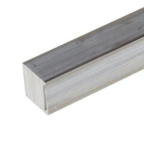 Barra quadra in alluminio 6082,larghe 10,15,20,25,30,35,40 varie lunghezze (20x20x500 mm)