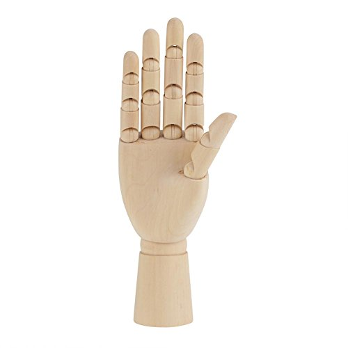 Modellhand aus Holz Hölzerne Menschliche Flexible Holzhand Modell Zeichnungsmodell für Anfänger, Profis und Künstler(10
