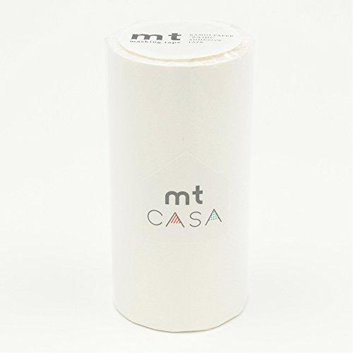 カモ井加工紙 マスキングテープ mt CASA 100mm幅×10m巻き マットホワイト MTCA1086