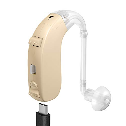 FUEIEAR Rechargeable Digital Hearing Amplifiers, Personal Sound Enhancers Fit for Seniors and Adults Suitable