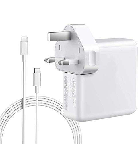 YWCKING Mac Book Pro Charger USB C 61W Compatible with New Mac Book 11''&13 Inch 2016 2017 2018 2019 and Smartphones&Tablets with USB C and Type C Ports, with 2M C-USB-C Charger cables.