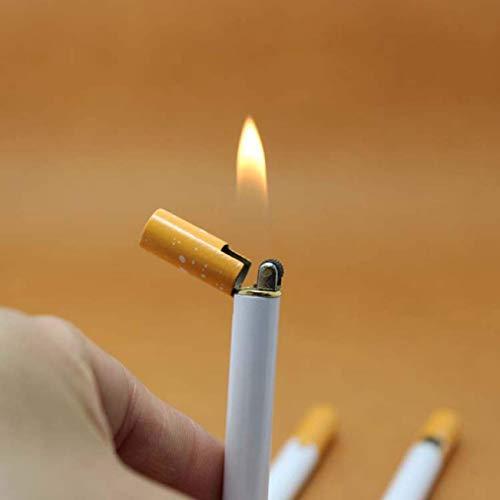 ShixinC Selten Neuheit Windfest Flamme Zigarette Form Nachfüllbar Butangas Zigarren-Feuerzeug - Hg