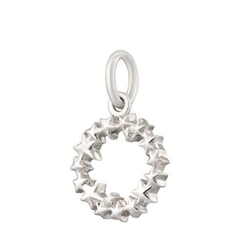 Lily Charmed - Colgante de plata de ley 925 con círculo de estrella o clip chapado en oro de 18 quilates para pulsera, Metal,