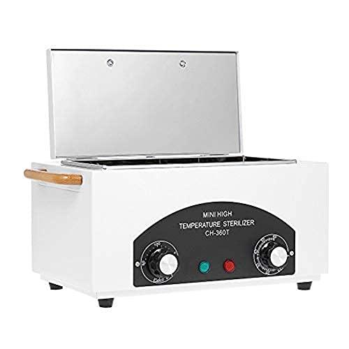 Esterilizador de alta temperatura Temporizador Caja de desinfección de calor esterilizador de uñas herramienta esterilizador de calor seco, equipo de herramientas de peluquería...