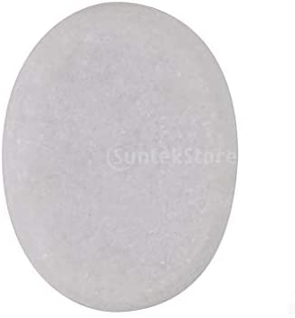 FITYLE Ovale Witte Smooth Natural Hot Massage Steen Koude Steen Verwarmde Warmer Rock voor Spa Massage Therapie80 X 60x16mm