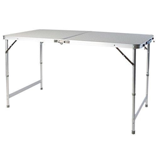 Klaptafel campingtafel uitklapbaar met MDF-tafelblad 120 x 60 x 54 cm