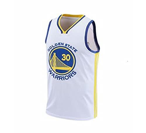 Nealpar Warriors Curry NBA Champion No. 30 Uniforme de Baloncesto Masculino con Chaleco Transpirable,White,M