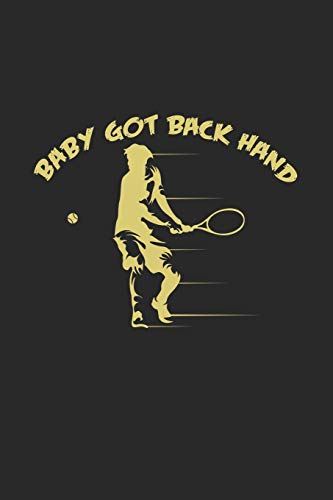 baby got back hand: 6x9 Tennis | grid | squared paper | notebook | notes