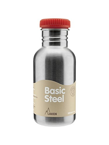 Laken BS50R Botella de Acero Inoxidable conTapón, 500 ml, Rojo
