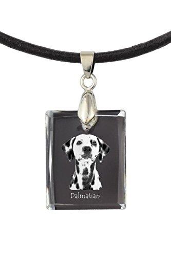 ArtDog Ltd. Dálmata, Collar de Cristal para Perro, Colgante, Regalo excepcional, Colección