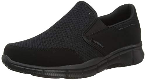 Skechers Men's Equalizer Persistent Slip-On Sneaker, Black, 6.5 M US