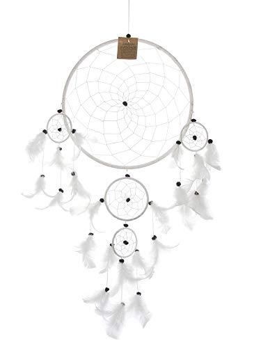 SAWA Traumfänger mit Babies Weiss Ø 27 cm, 12 cm, 3X 6 cm, Dreamcatcher Mobilee