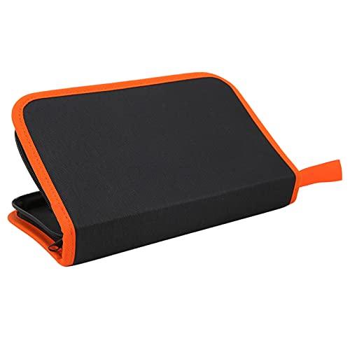 Bolsa de almacenamiento de herramientas de guitarra, soporta pesos más pesados Bolsa de herramientas de limpieza de guitarra para herramientas de guitarra para proteger herramientas(naranja)