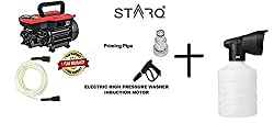 STARQ W3-B Electric High Pressure Washer with Copper Winding with Hose Pipe Now with Foam Bottle/Soap Dispenser(21.5-inch, Multicolour, 1800 W)