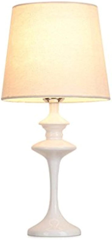 RBB Tischlampe, Moderne minimalistische Stil Schreibtischlampe, Schlafzimmer Nachttischlampe, Mode kreative warme Zimmer Restaurant   Konferenz, Wohnzimmer Lesesaal Dekorative Tischlampe (wei)
