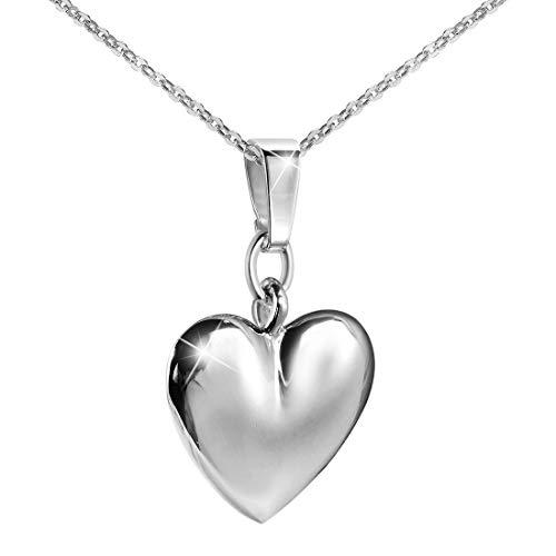 MATERIA argento 925 A forma di cuore viennagold - donna bambini ciondolo rodinato per collane #KA-198