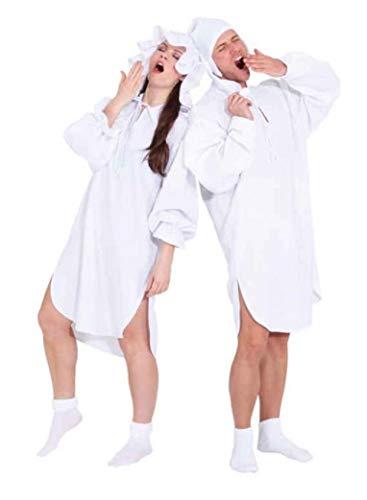 narrenkiste O1088-46-48 weiß Damen Nachthemd Schlafwandler Kostüm Gr.46-48