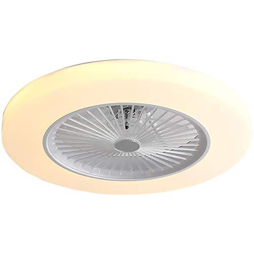 Ventilador de techo con iluminación de 36 W invisible lámpara LED de techo con mando distancia regulable ultrasilencioso se puede utilizar temporizador lámpara moderna para salón dormitorio 58 x 18 cm