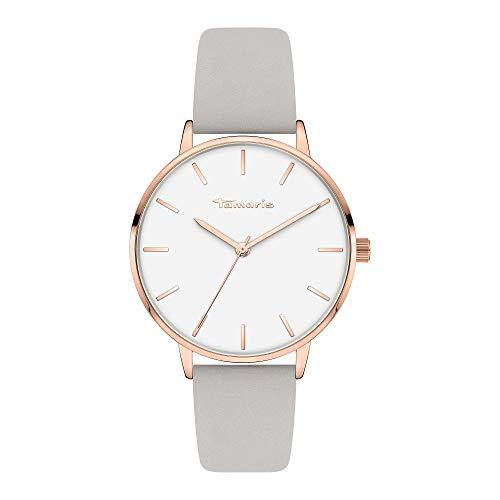 Tamaris Damen Analog Quarz Uhr mit Leder Armband TT-0005-LQ