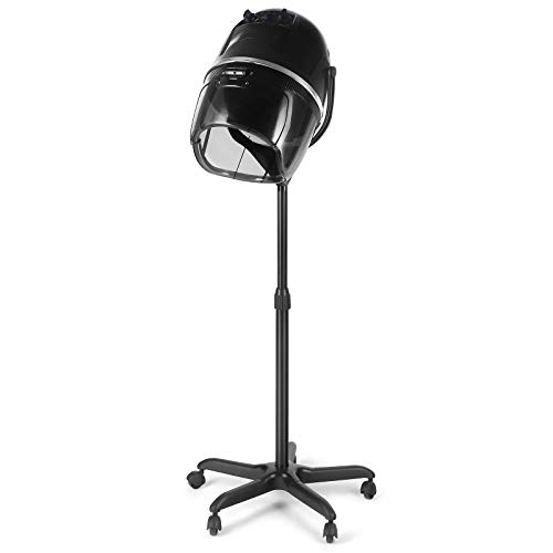 Artist Hand Hair Dryer Hood Portable Hairdryer Stand Up Bonnet Professional Hairdresser Styling Salon Equipment Rolling Base With Wheels Height Adjustable Timer Temperature Control Black