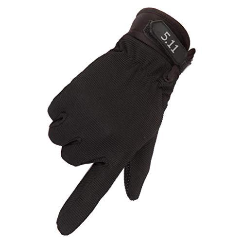 QIMANZI QIMANZ Motorradhandschuhe Taktische Handschuhe Vollfinger Handschuhe für Motorrad Fahrrad Airsoft Militär Paintball Outdoor-Aktivitäten(D Schwarz)