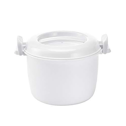 TTAototech Mikrowellen-Reiskocher, 1,2 l multifunktionaler Reiskocher mit Reiskugel, zum Kochen von Reis, Suppe, heißen Gerichten
