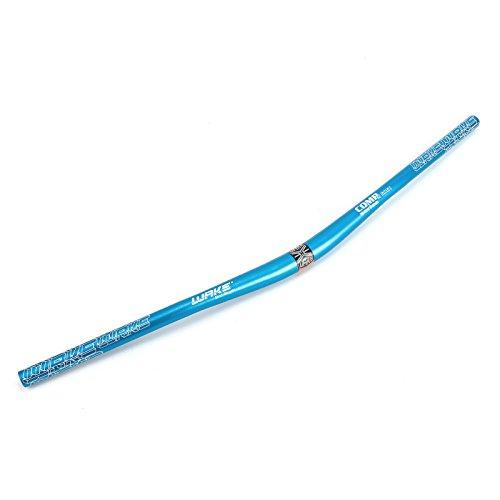Hamimelon 31.8MM Aluminum Alloy Mountain Bike Cycle Bicycle Handlebar Riser Bar Extra Long 780MM (Blue)