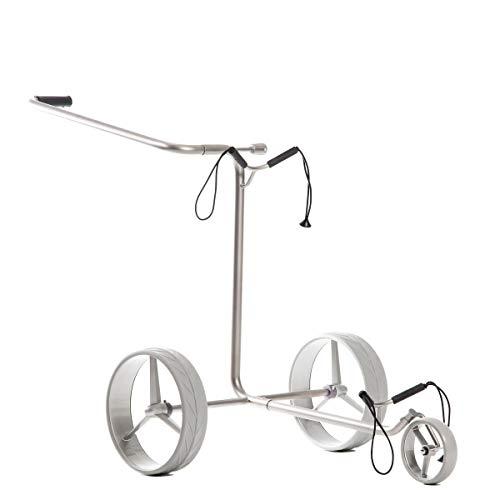 JuStar JuCad Silver Push Golf Trolley 2 Rad oder 3 Rad 2-Rad