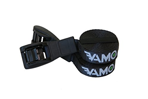 Vamo Premium 'No Scratch' Silicone Buckle Surf or SUP Tie Down Straps for Surfboards, Paddle Boards, Kayaks and Canoes (Two Pack)