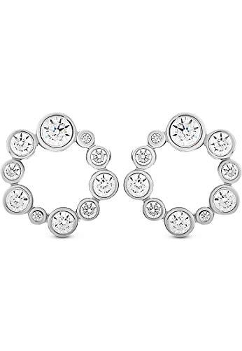 JETTE Silver Damen-Ohrstecker 925er Silber 29 Zirkonia One Size 87744574