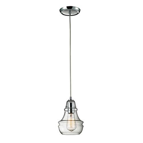 Elk 60057-1 Menlow Park - Lámpara de techo colgante (15,2 x 22,8 cm, acabado en cromo pulido)