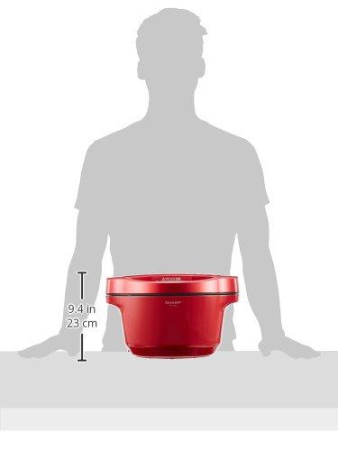 シャープ自動調理鍋ヘルシオホットクック1.6L無水鍋レッドKN-HT99A-R