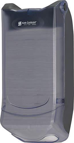 "San Jamar H5004P Venue Wall Mount Mini Interfold Napkin Dispenser, 600 Capacity, 8"" Width x 15-3/4"" Height x 5-9/10"" Depth, Clear"