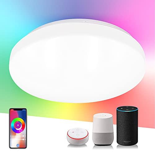 SYLSTAR 20W Alexa Smart LED Deckenlampe,...